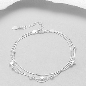 Sterling Silver Star Spangled Bracelet