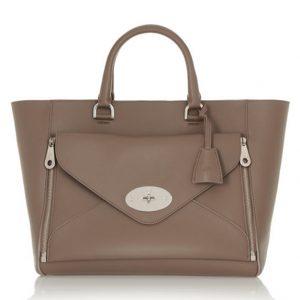 Ginger Envelope Pocket Leather Tote Handbag